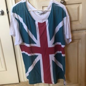 Tops - Wildfox Union Jack T Shirt